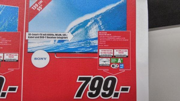 Sony 55 KDL W815 B - Media Markt Weiterstadt - Jubiliäumspreis