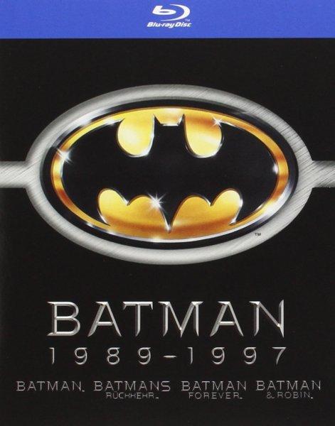 (Amazon Prime) Batman 1989-1997 (Batman / Batmans Rückkehr / Batman Forever / Batman & Robin) [4 Blu-rays] für 14,97 EUR