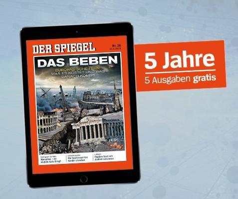 Der Spiegel (Digital) 5 Ausgaben Gratis