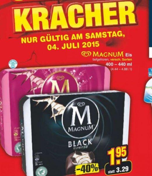 Magnum Eis versch. Sorten am 04.07.15 bei   NETTO [Bundesweit]