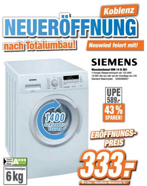[Lokal] Expert Klein Koblenz/Neuwied Siemens WM14B281 333€(Idealo 433€)+weitere Schnapper
