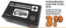 [Globus - Baumarkt]   KFZ-Verbandkasten in Kunststoffbox   3,99 Euro