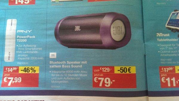 (Staples) JBL Charge 2 für 79 Euro. Bundesweit