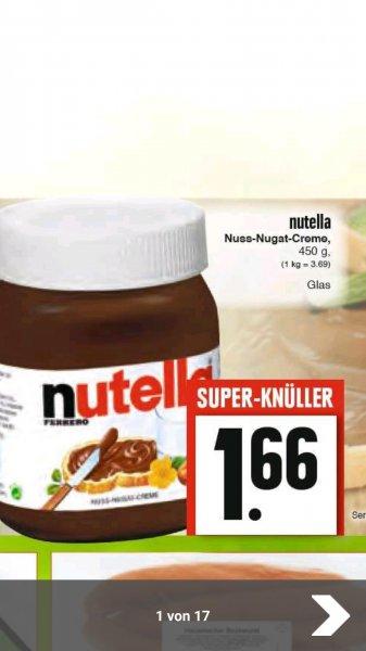 Bahncard 25 + 450g Nutella 1.66€ Edeka
