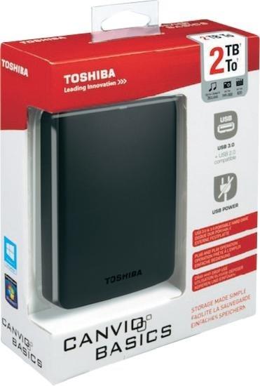 "@ Voelkner Toshiba Externe Festplatte 6.35 cm (2.5 "") 2 TB Canvio Basics Matt Schwarz USB 3.0"