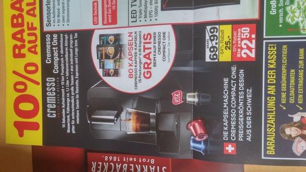 [lokal Bremerhaven] Cremesso Compact One mit 80 Kapseln für nur 22,50€ bei Netto MD