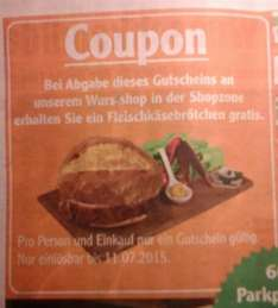 GLOBUS Hattersheim Fleischkäsebrötchen gratis
