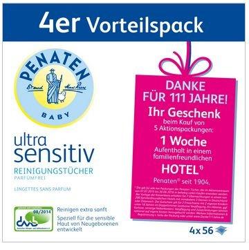 1 Woche Hotel (nur übernachtung) in DeutschLand und Österreich , durch Penaten feuchttücher aktion