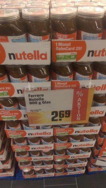 [Rewe Alzenau] 800g Nutella + 1 Monat Bahncard Gutschein für 2,69€