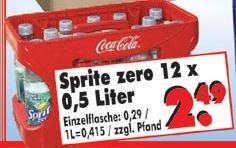 """[Lokal Nordhessen] Sprite Zero 12x 0,5l für 2,49 Euro beim """"Rumpelbecker"""""""