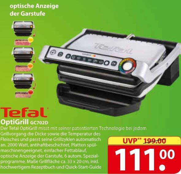 [FAMILA lokal, Bielefeld] Kontaktgrill Tefal GC702D OptiGrill für 111 EUR (PVG 149,99 EUR)