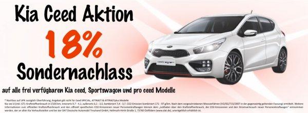 [Lokal Raum Magdeburg] 18 % Sonderrabatt auf frei verfügbare KIA ceed, Sportswagon & pro ceed Modelle @ Autohaus Pohl