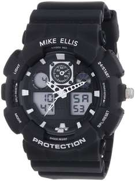 Mike Ellis New York Herren-Armbanduhr XL Digital Quarz Plastik SL4-60221