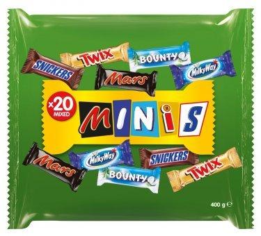 [GLOBUS MAINTAL] Snickers/Mars/Bounty/Twix/MilkyWay Minis 400g für 1,50€ statt 3,29€