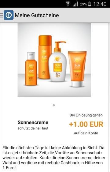 [dm&Reebate] Sonnencreme mit 0,05€ Gewinn
