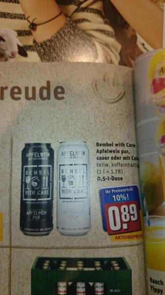 [Festivaldeal] Rewe Hessen Bembel With Care Apfelwein in Dosen 0,89€ 0,5L