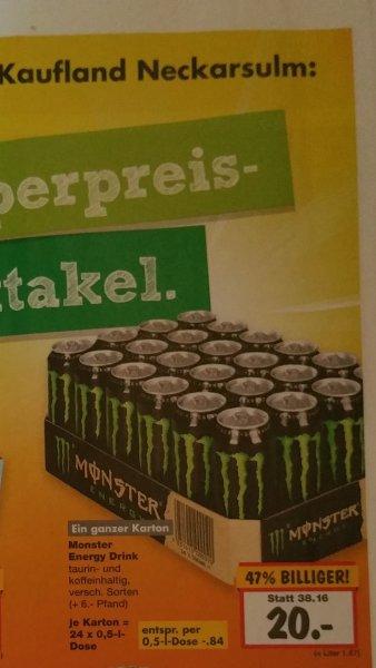 [KAUFLAND NECKARSULM] Ein ganzer Karton Monster Energy Drink ab heute für 20€ (0,84€ pro Dose)