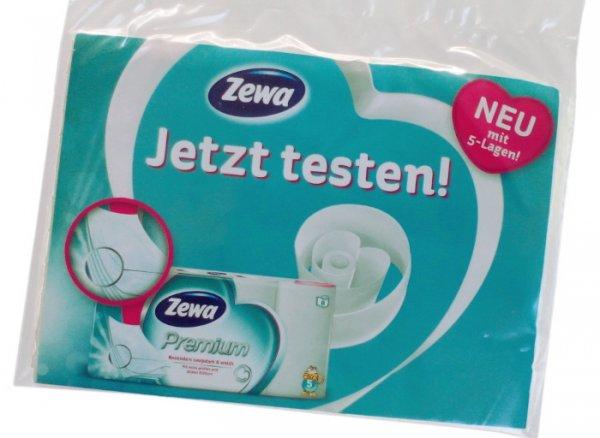 [KAUFLAND evtl. bundesweit] Freebie: Zewa Premium Toilettenpapier 5-lagig gratis Probe (5 Blätter)