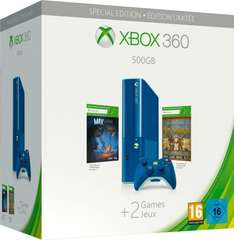 Microsoft XBox 360 E  500GB + FIFA15 oder SpecialEdition (blaue Konsole) + 2Spiele (The Curse of Brotherhood + Toy Soldiers) @Telepoint