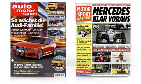 [Abo] Auto-Motor-Sport, Motorsport Aktuell im Jahresabo bis 87% günstiger