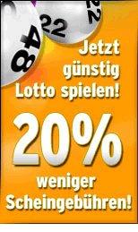 Mit Faber Lotto spielen. Diese Woche 20% Online-Rabatt auf alle Scheingebühren!