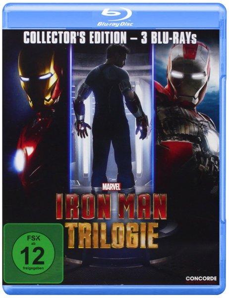 (Saturn / Amazon Prime) Iron Man Trilogie (Collectors Edition) - Blu-ray für 13,99 EUR