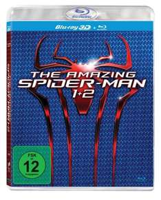 (Saturn) The Amazing Spider-Man / The Amazing Spider-Man 2: Rise of Electro (3D + 2D Version) 4 Blu-Rays für 19,99 EUR