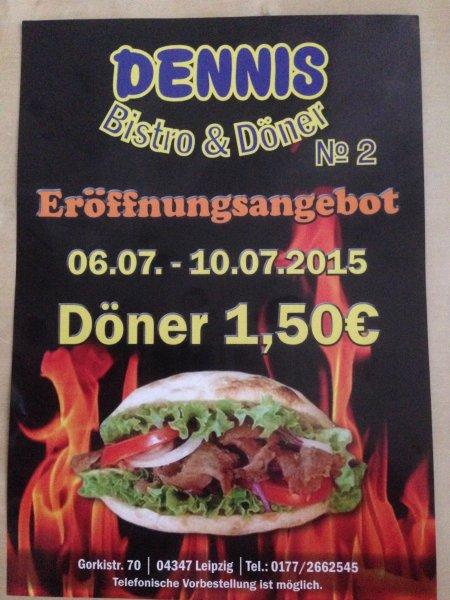 [LEIPZIG, lokal] Döner für 1,50€ bis 10.07. in der Gorkistraße (Schönefeld)