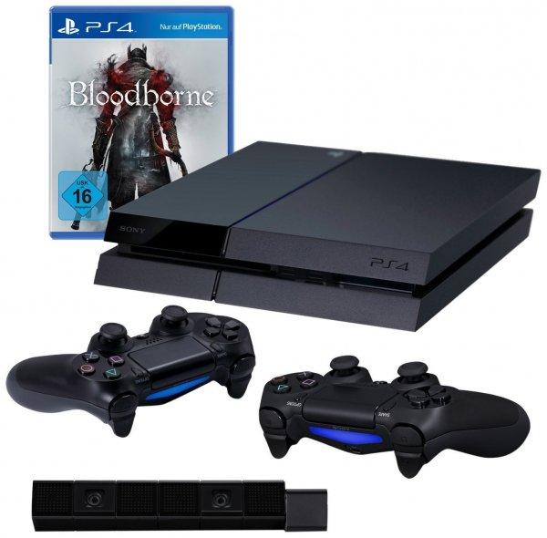 [Amazon.de] PlayStation 4 inkl. Bloodborne, 2. Controller und PS4 Kamera für 389 Euro