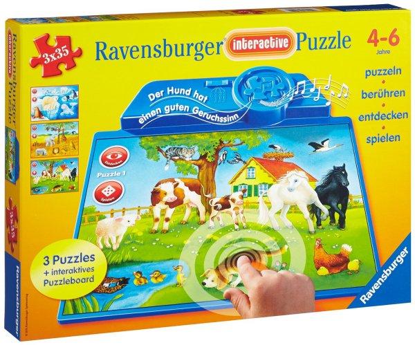Ravensburger Interactive - Tiere dieser Welt (3 x 35 Teile) für 10,99 EUR