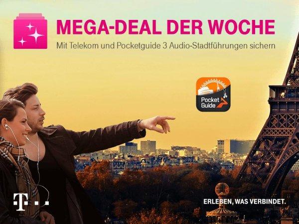 Telekom Mega-Deal: 3 gratis Audio-Stadtführungen von PocketGuide