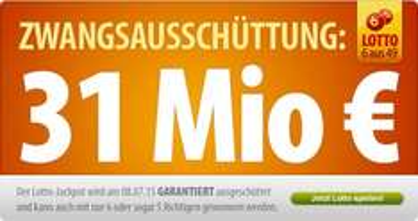50% Rabatt auf Lotto-Spielen + kompletter Spielbetrag wird zusätzlich gespendet @Tipp24 - 31 Mio Euro Jackpot