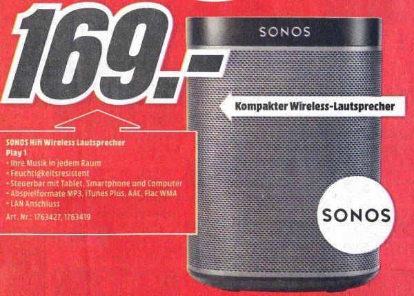 Sonos Play 1 - 169 € nur lokal MMarkt Aachen