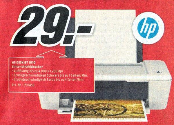 HP Deskjet 1010 - 29 € nur lokal MMarkt Aachen