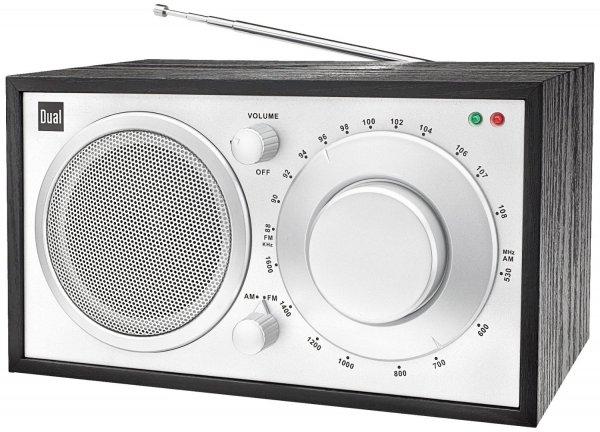 (WHD: Gebraucht - Sehr gut & Prime) Dual NR 2 Nostalgieradio (UKW-/MW-Tuner, Holzgehäuse, LED-Anzeige, Kopfhöreranschluss, Lautsprecher) schwarz