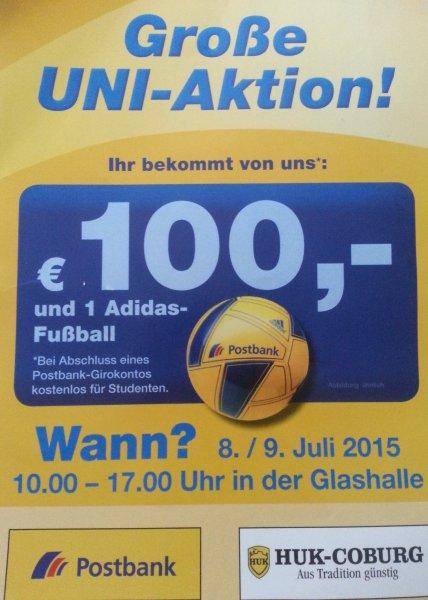 [Bremen, für Studenten] 100€ Prämie bei Eröffnung eines kostenlosen Giro-Kontos bei der Postbank