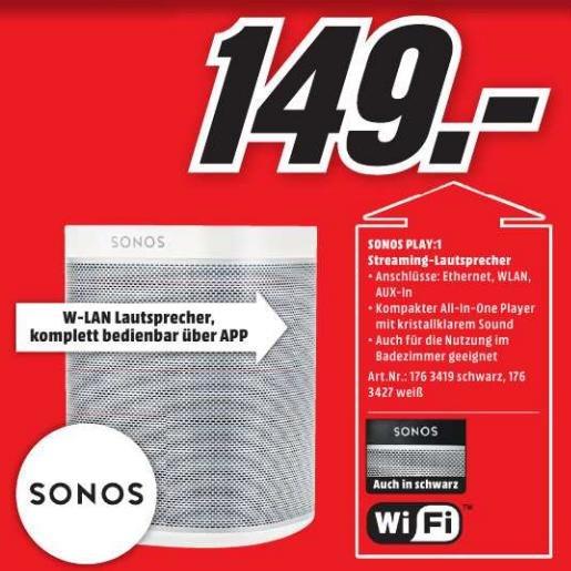 [Lokal MM Papenburg] Sonos Play: 1 für 149€ -- Play: 3 für 249€