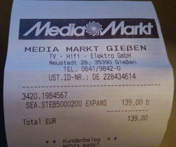 [Media Markt Gießen] SEAGATE Expansion Desktop STEB5000200 Externe Festplatte 5TB