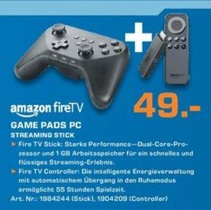 [Lokal Saturn Paderborn] Amazon Fire TV Stick + Amazon Fire-Gamecontroller für zusammen 49,-€