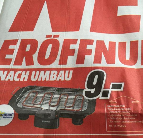 Elektrogrill Suntec BBQ 9141 Tisch-Grill für 9€ statt 24,99€ bei MM Backnang Neueröffnung nach Umbau