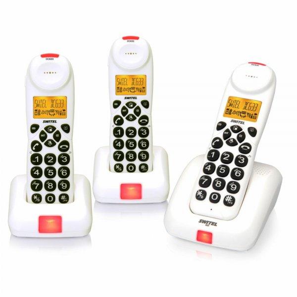 [ebay] [nur heute] Switel DC 633 Trio Ecomode Telefon weiß schnurlos Verstärker-Telefon mit XL-Tasten LCD-Display für 33 € statt 69,90 €