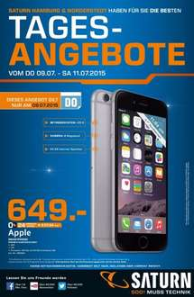 Saturn Hamburg/Norderstedt:  Iphone 6 64GB für 649€