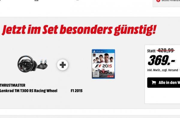 [Media Markt] F1 2015 (PS4) & T300RS Lenkrad ab 364€