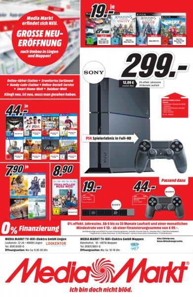 Media Markt Lingen und Meppen PlayStation 4 für 299