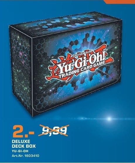 [Lokal Saturn Ingolstadt] Sammlerdeal...Yu-Gi-Oh! Deluxe Deck Box Trading Card Game für 2.-€***50 Schutzfolien für 1,-€***9-Pocket Portfolio für 2,-€