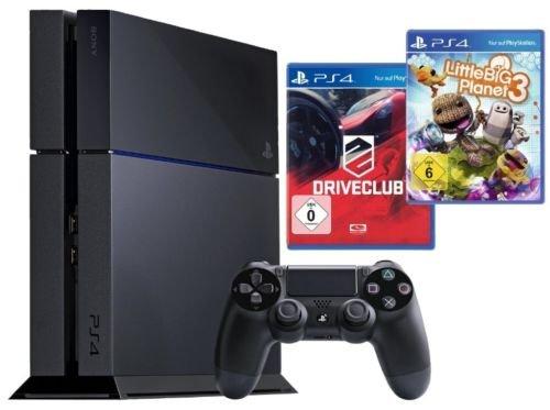 Playstation 4 500GB schwarz + Driveclub + Little Big Planet 3 - 359,99€ @ ebay/Medion
