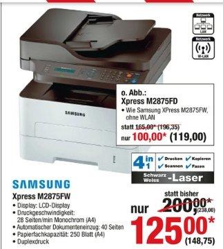 [Metro Sale ab 16.07 ] Samsung ML-Xpress SL-M2875FW Monolaser-Multifunktionsdrucker 4in1 für 148,75€