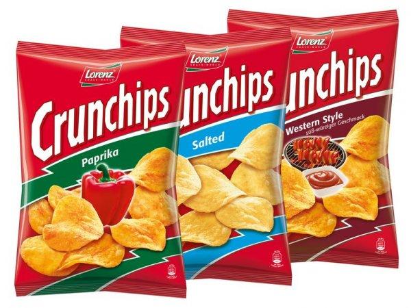 [Lidl Bundesweit] Lorenz Crunchips vers. Sorten DAUERHAFT von 1,89€ auf 1,19€ gesenkt