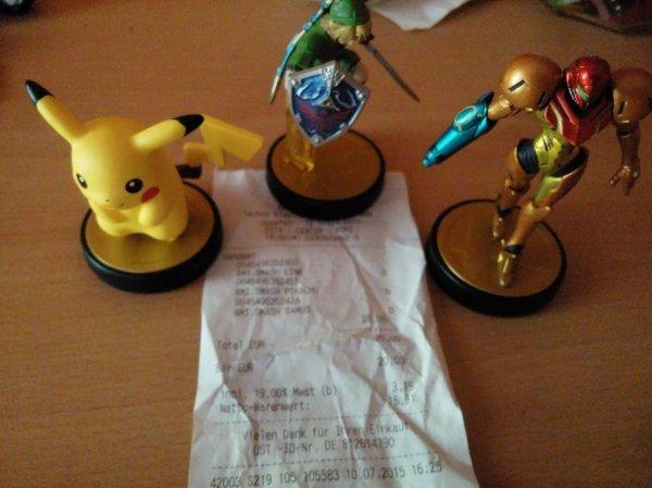 [LOKAL] Saturn Köln Porz - 3 x Amiibo - Pikachu, Link und Samus