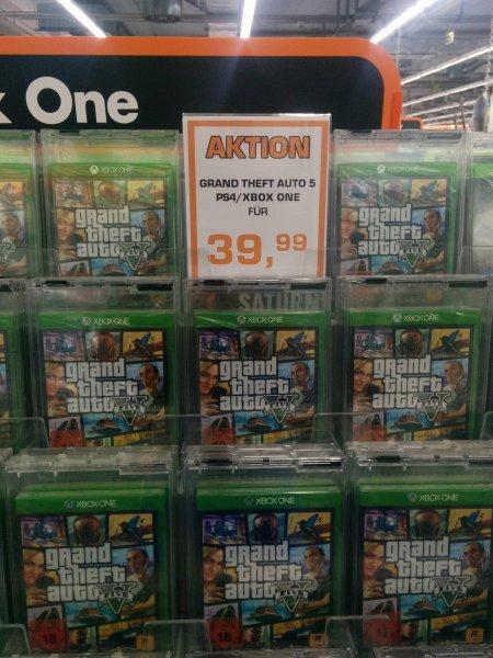 [Lokal Saturn Berlin-Alexanderplatz] GTA 5 für Xbox One / PS4 für 39.99€
